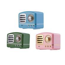 цена на HM11 Mini Bluetooth V4.1 Wireless Retro HIFI Radio Speaker Portable Subwoofer Music Player Support TF card