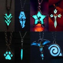 Moda brilhante colar brilho no escuro luminoso dragão pingente colar colar colar colar transporte da gota