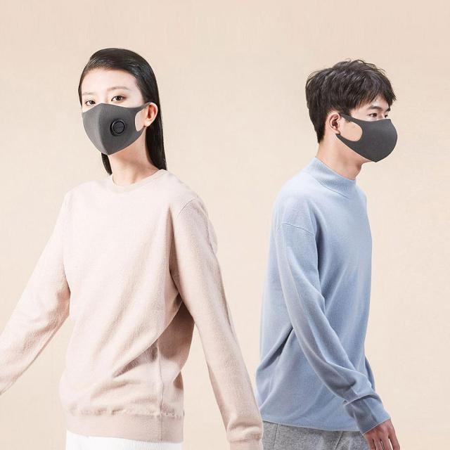 Xiaomi SmartMi Black PM2.5 Mouth Mask Anti Pollutio Dust Mask Bacteria Proof Flu Face Masks Filter Respirator with Breath Valve 1