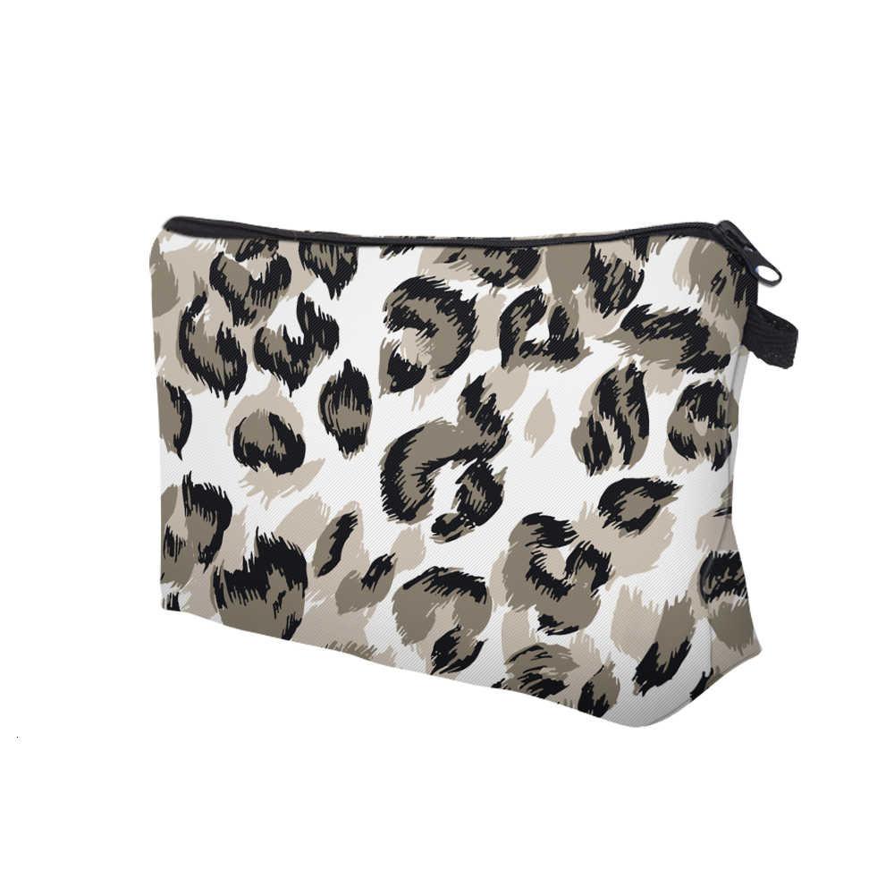 Deanfun Da Báo Nâu Nhỏ Trang Điểm Rộng Polyester Túi Đựng Mỹ Phẩm Cho Nữ Cắt Túi Cho Bé Gái Tặng D51679