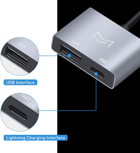 Image 2 - USB OTG adaptör kablosu şarj arayüzü ile dönüştürücü iSO 9 ila 12 iPad Mini hava Pro iPhone X 8 7 6 5 artı erkek kadın