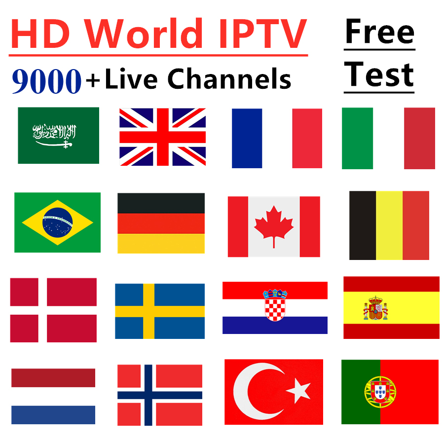 IPTV Subscription VOD 9000+ channels Portugal France UK German Arabic Sweden French Poland M3U TV Smart TV Box Mag Code IPTV-in Set-top Boxes from Consumer Electronics