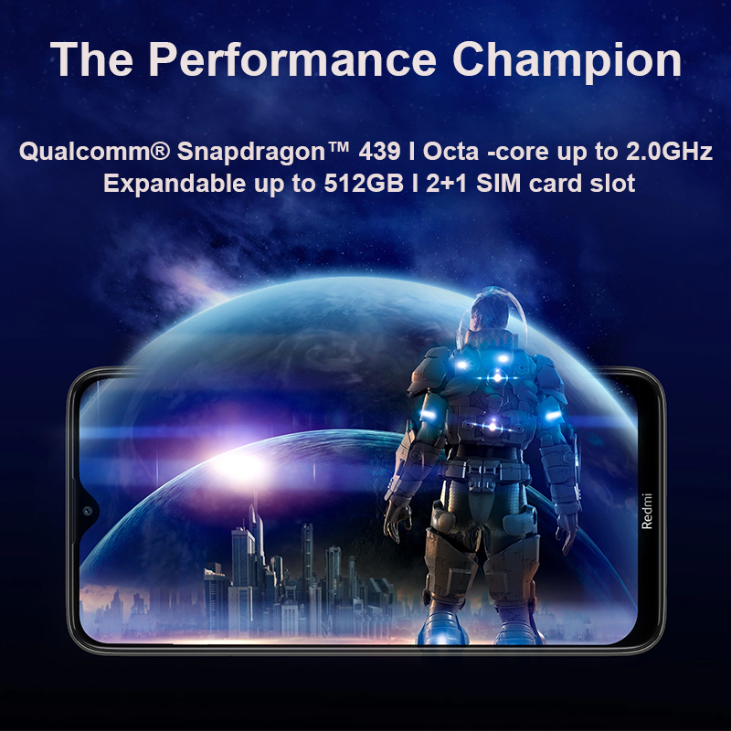 Global Rom Xiaomi Redmi 8 3GB 32GB Snapdragon 439 Octa Core Cellphone 12MP Dual Camera 5000mAh Large Battery Mobile Phone 3