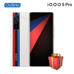 Оригинальный мобильный телефон vivo IQOO 5 Pro 5G 8 Гб 256 ГБ Snapdragon865 120 Гц частота обновления 5x оптический Zoom120W SuperVOOC