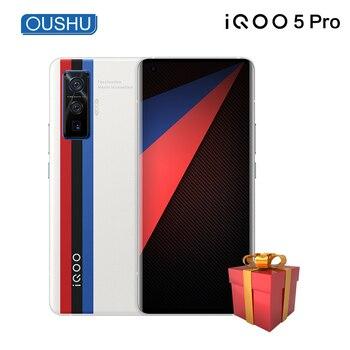 Перейти на Алиэкспресс и купить Оригинальный vivo IQOO 5 Pro 5G мобильный телефон Snapdragon 865 120 Гц частота обновления 5x оптический Zoom120W Ультра-быстрая зарядка мобильного телефона
