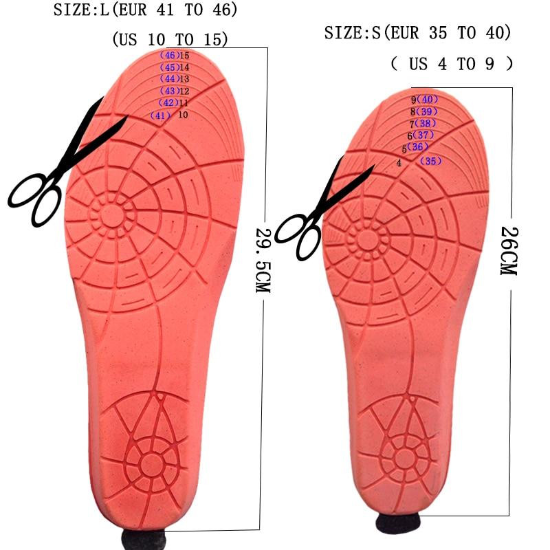 เครื่องทำความร้อน insoles แบตเตอรี่ฤดูหนาวพื้นรองเท้าหนา plush Powered ไร้สายรีโมทคอนโทรลสีดำหน่วยความจำโฟมรองเท้าอุปกรณ์เสริม-ใน แผ่นรองรองเท้า จาก รองเท้า บน   3