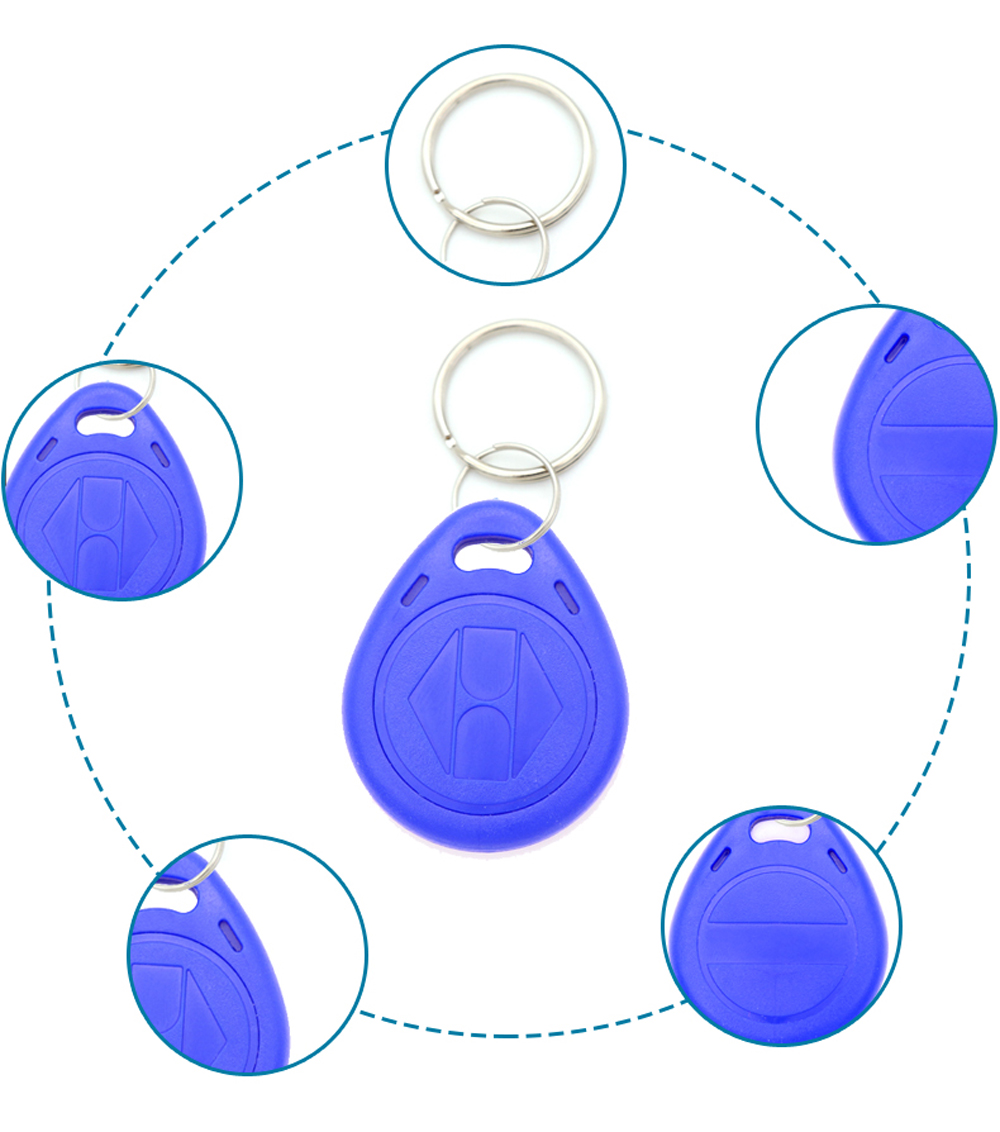 50 шт. EM4305 T5577 пустой ключ бирка RFID чип кольцо бумажные ярлыки Keytag 125 кГц копия перезаписываемый дубликат 125 кГц