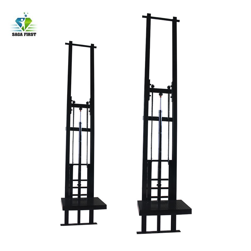 1~10ton Hydraulic Vertical Lifting Equipment  Guide Rail Cargo Lift