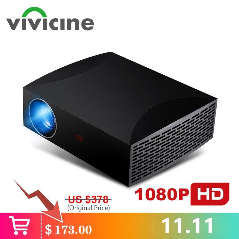 Vivicine f30 completo hd projetor de cinema em casa, opção android 9.0 wifi bluetooth 1080p hdmi usb pc vídeo game projetor beamer