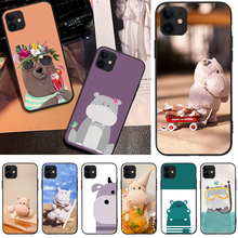 OFFeier Cute Hippo Newly Arrived Black Cell Phone Case For iPhone 5C 6 6S 7 8 plus X XS XR XS MAX 11 11 pro 11 Pro Max offeier cute hippo newly arrived black cell phone case for iphone 5c 6 6s 7 8 plus x xs xr xs max 11 11 pro 11 pro max