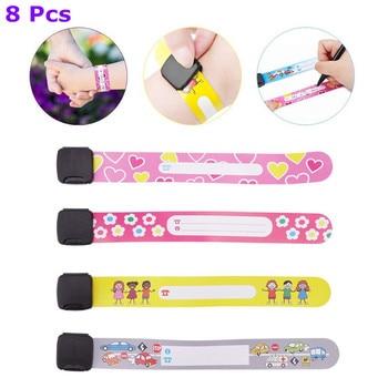 8 Pcs Kids Anti-lost Info Wrist Band Children Reusable Outdoor Safe ID Bracelet Event Festival Parties Recognition Wristband