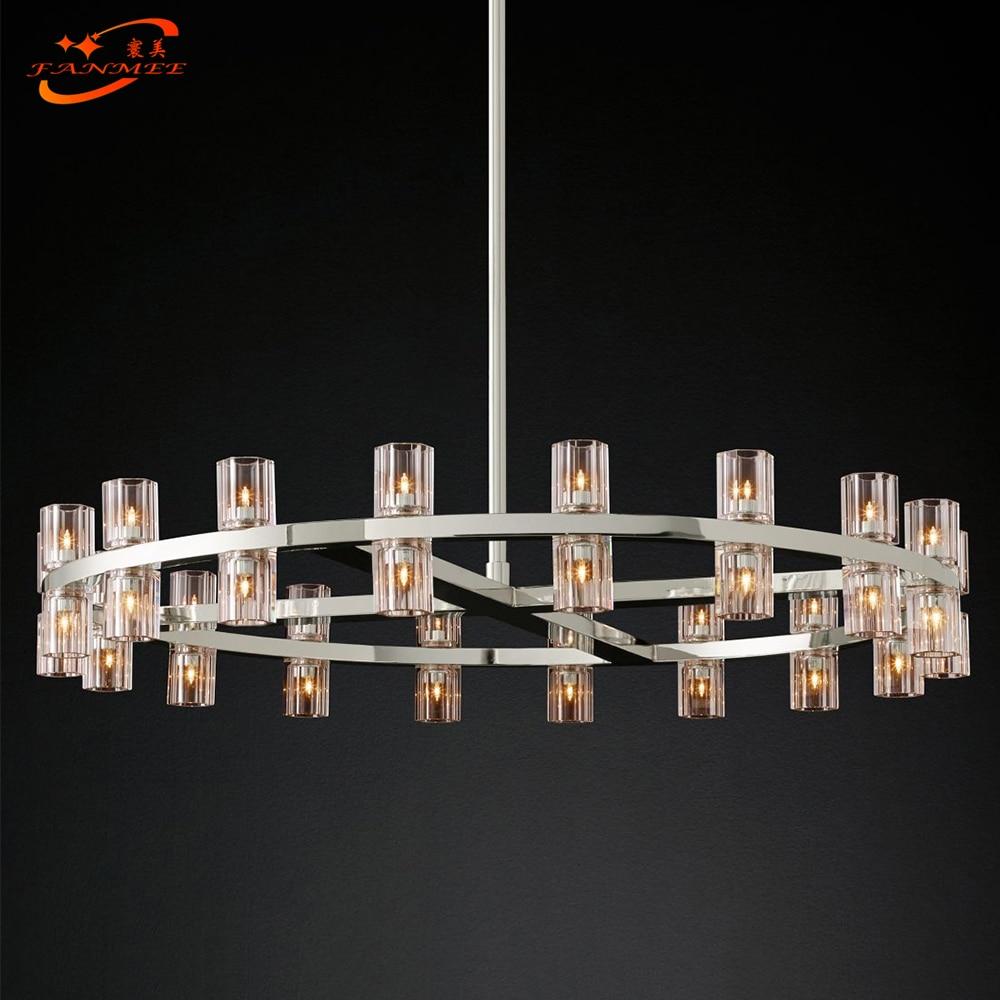 Arcachon Круглая Люстра Освещение Современный винтажный Кристальный подсвечник подвесной светильник освещение ресторана