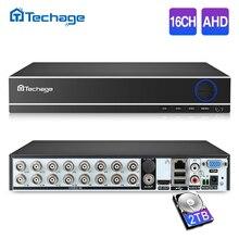 Techage H.264 16CH 1080N P2P AHD CCTV DVR NVR Nuvem de Segurança Gravador de Vídeo Digital de 1080P HDMI de Vídeo Analógico AHD Câmera IP