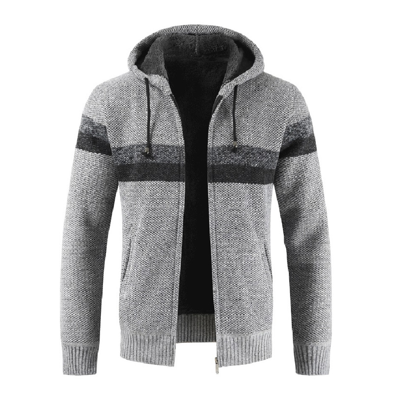 PEVSN Winter Men's Sweater Coats Casual Mens Cardigan Sweater Jackets Men Warm Knitted Ziphoodie Knitted Jackets Clothing