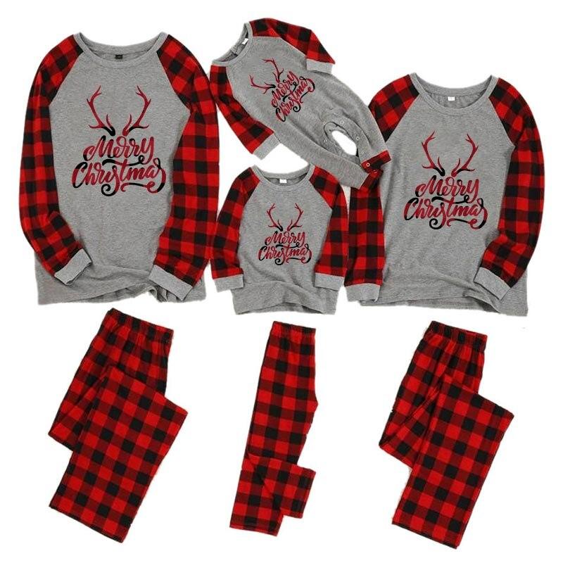 Рождественские пижамы для всей семьи, комплект для мамы, дочки, папы и сына, комбинезон, одежда для сна одинаковые комплекты для папы, мамы и меня одежда для мамы и ребенка - Цвет: color 6