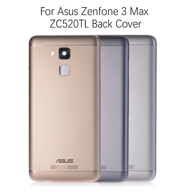 Original Back Cover Battery Door for ASUS Zenfone 3 Max ZC520TL Rear Back Housing with Power Volume Buttons Camera Lens Replace|Mobile Phone Housings & Frames| |  - title=