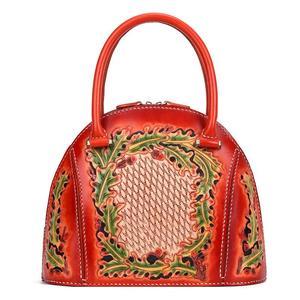Image 2 - Johnature 럭셔리 핸드백 여성 가방 디자이너 2020 새로운 수제 가죽 조각 레트로 숙녀 핸드 가방 중국어 스타일 토트