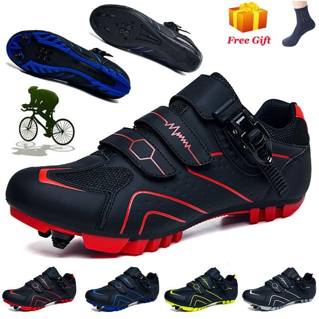 Ciclismo ao ar livre sapatos de ciclismo mtb tênis mulher sapatos de bicicleta de montanha auto-bloqueio sapatos de corrida originais 1