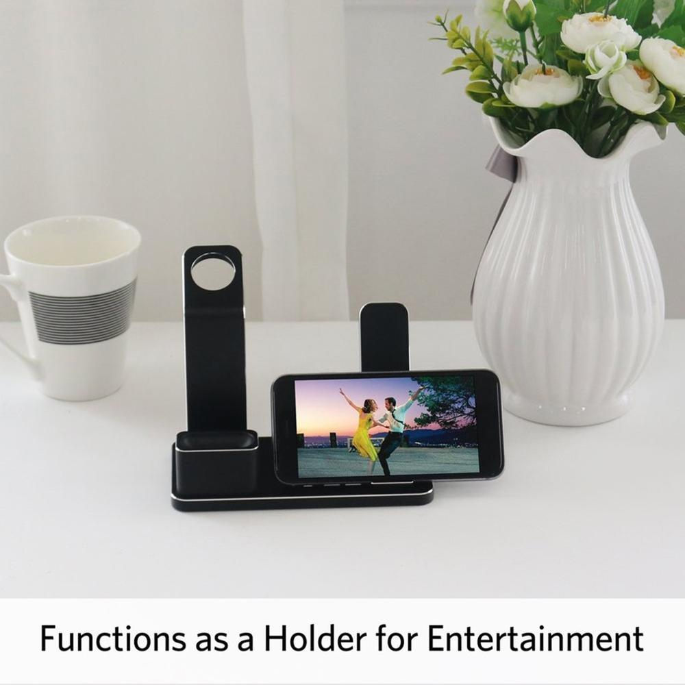 4 in 1 Portable Aluminum Alloy Charges Stand Charging Docks Phone Holder Stand in Stands from Consumer Electronics