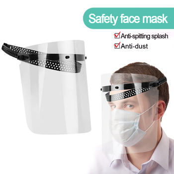 Safety Dustproof Mask  Anti-Saliva Transparent Faces Shields Screen Spare Visors Head Face Respiratory Tract Protection Masques