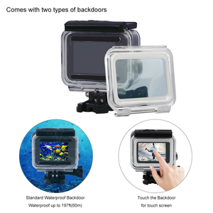 Image 4 - 60M Underwater Diving Waterproof Housing Case + Dive Color Lens Filter Kit for GoPro Hero 5 6 7 Black Camera go pro Accessories