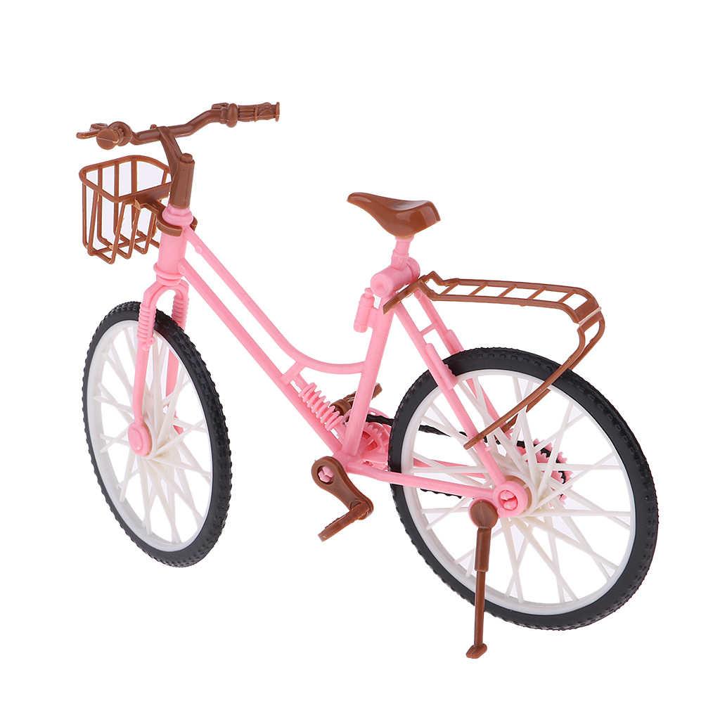 인형 집 액세서리 장난감에 대 한 1/6 규모 플라스틱 자전거 자전거 모델