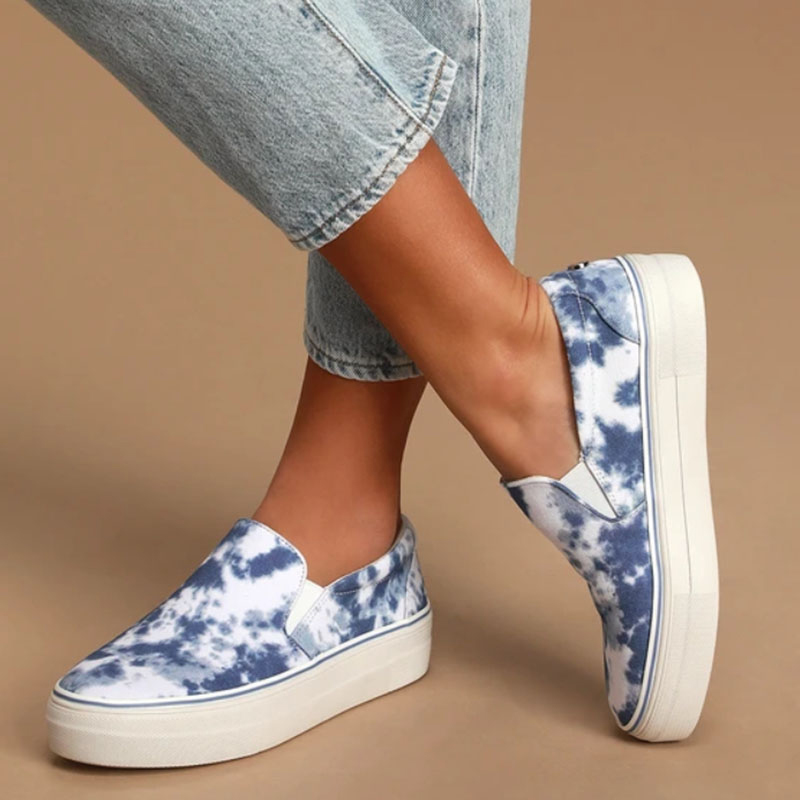 Women's Flats Shoes Woman Platform Sneakers Canvas Plus Size 36-43 Female Loafers Slip On Comfortable Ladies Casual All Season