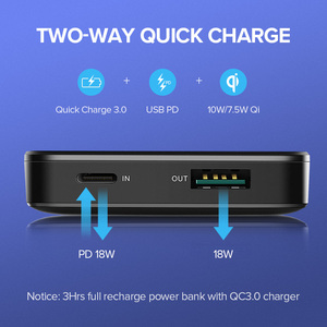 Image 2 - Ugreen banco de potencia 10000mAh portátil cargador rápido carga rápida 4,0 3,0 QC3.0 de carga inalámbrico Qi para iPhone 11 Xs 8 PD Poverbank