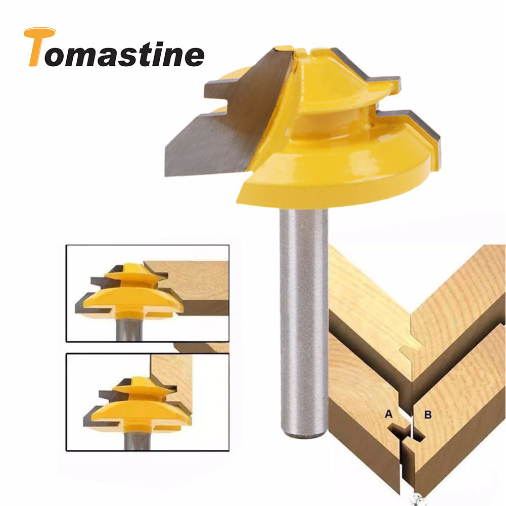 1/4*1-3/8 Trimming Knife Milling Cutter Three-Teeth Tool Professional Woodworking Wood Carving Tool Alloy Milling Cutters