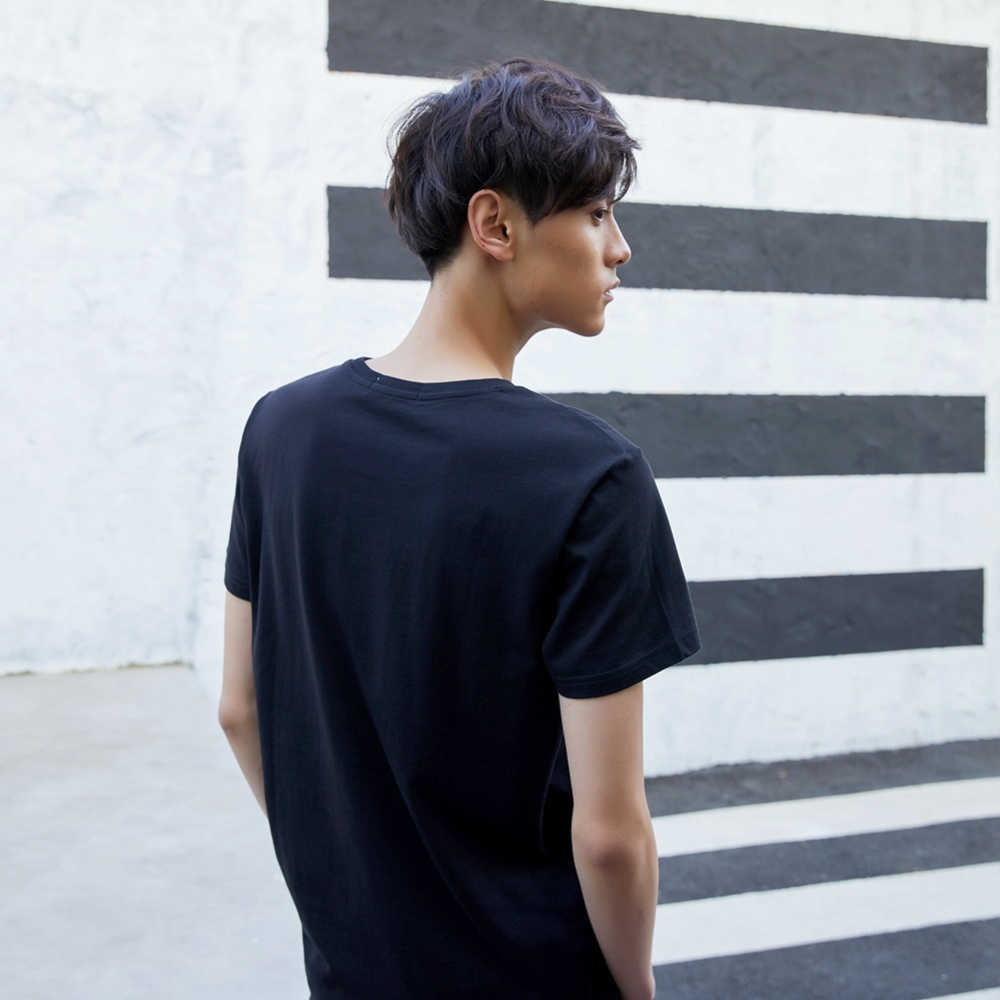 Metersbonwe Dochteronderneming Merk 4M Mannen T-Shirt voor Man Effen Katoenen T-Shirt Zomer Nieuwe Casual Shirt Tops Comfort Shirt