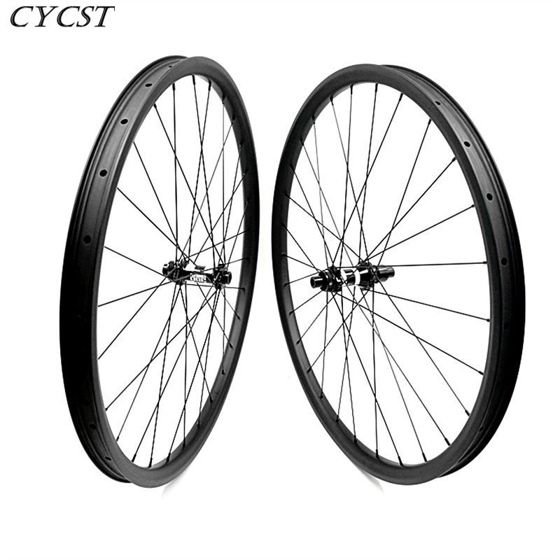 29er 35x25mm tubeless carbon mtb disc wheelset 29 Inch XC AM DT350S boost 110x15 148x12 6-bolt bicycle mtb wheels 1420 spoke image