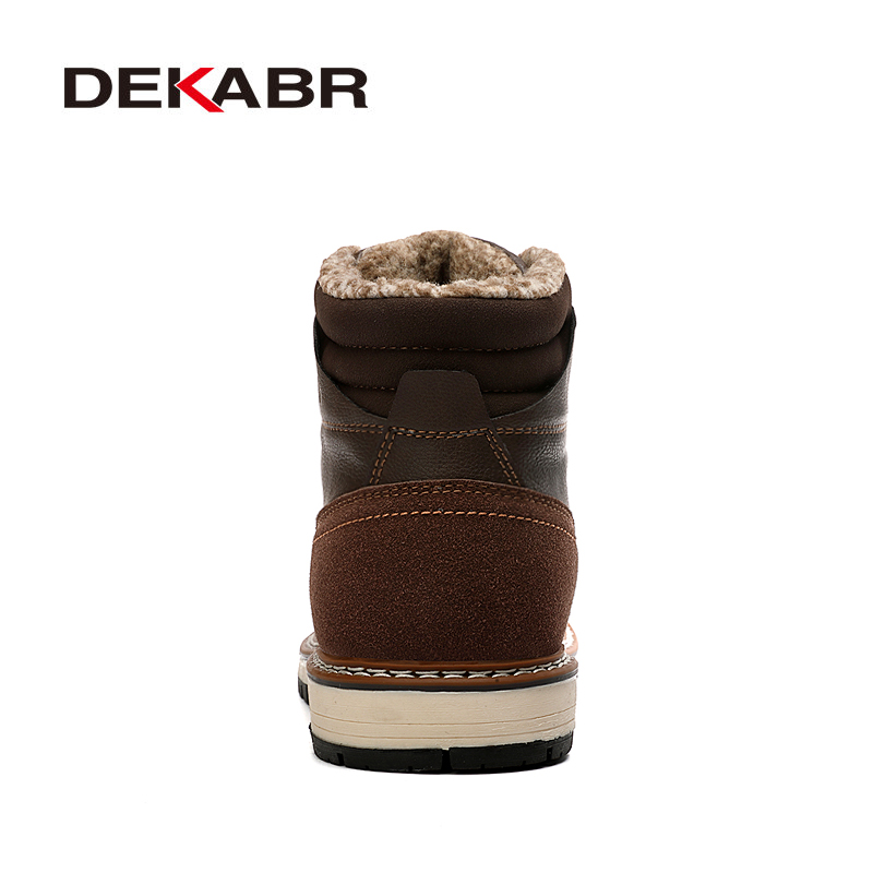 DEKABR 2021 New Snow Boots Protective and Wear-resistant Sole Man Boots Warm and Comfortable Winter Walking Boots Big Size 39-46 3