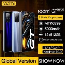 Original Radmi GT Smartphone Android 10 128 gb  Global Version Smart Phones Unlocked 5g 7 2inch Cell Phone 5000mAh mobile phones