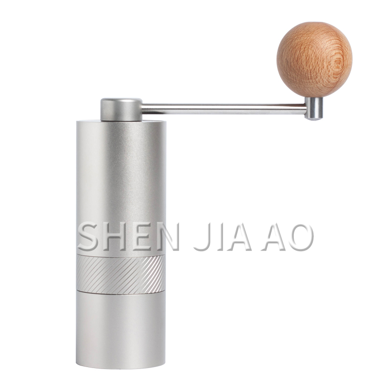 Hand-cranked Coffee Bean Machine Mini Portable Coffee Grinder Manual Coffee Bean Processing Grinding Machine Stainless Steel 1PC
