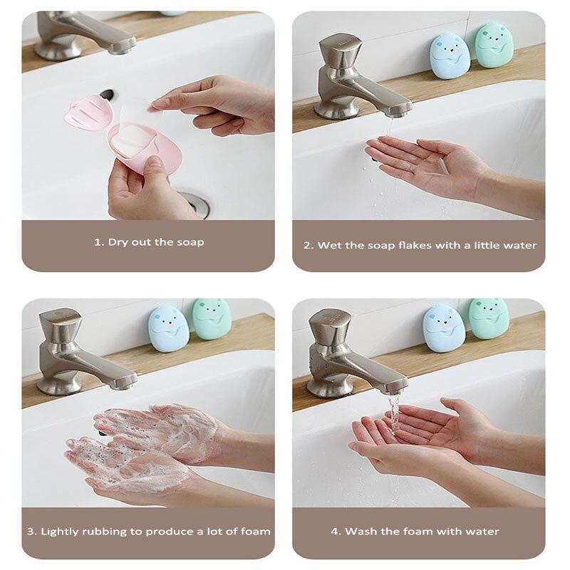 Одноразовый мыло коробка портативный мыло бумага коробка ароматизированный ломтик простыни для улицы продукт мини мыло бумага ванная тарелка душ крышка мыло
