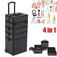Make Up Case Hairdressing Vanity Beauty Cosmetic Box Trolley Large
