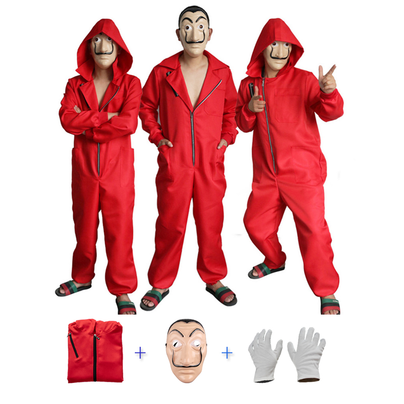 Salvador Dali La Casa De Papel Adult Costume & Face Mask Cosplay The House Of Paper Role Playing Party Cosplay Money Heist Dress