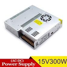 Fonte de alimentação regulada da c.c. 15 v 20a 300 w transformador do motorista ac para dc15v smps para a maquinaria conduzida do rádio do cctv do monitor da iluminação
