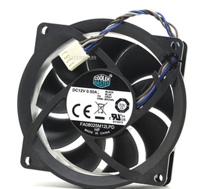 Free Shipping FA08025M12LPD 12V 0.50A 804057-001 80*80*25mm Cooling Fan 4pin Cooling Fan Processor Cooler Heatsink Fan