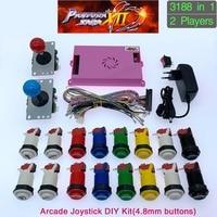 3188 in 1 Pandora Saga Box 12 DIY Arcade Kit spiel bord 8 weg joystick & Amerikanischen Stil Taster für 2 Playes Arcade Maschine-in Spielautomaten aus Sport und Unterhaltung bei
