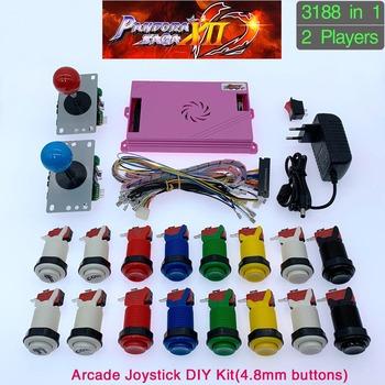 3188 w 1 Pandora Saga w polu 12 DIY zestaw zręcznościowy gra planszowa 8 way joystick i w stylu amerykańskim przycisk przez 2 Playes automat arkadowy tanie i dobre opinie GAME CONSOLE Pchacz 3 lat