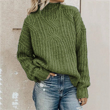 Sweater women's turtleneck twist knit top pullover women sweater