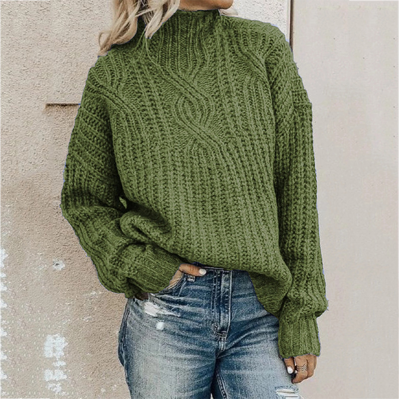 Sweater Women's Turtleneck Twist Knit Top Pullover Women Sweater Winter Clothes Women Winter Clothes Pullover Women