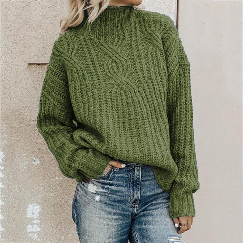 Sweater Women's Turtleneck Twist Knit Top Pullover Women Sweater Winter Clothes Women Winter Clothes Pullover Women