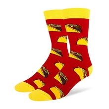 OUtdoor Sports Socks Women Men Food Printed And Soft For Riding Running Hosiery Footwear Holiday Working Dating