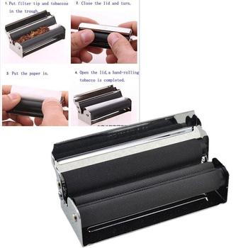 DIY napełnianie papierosów maszyna rolkowa narzędzia maszyna do tytoniu do cięcia papierosów napełnianie rolek metalowe akcesoria do palenia tanie i dobre opinie Lakier 70MM 78MM 110MM