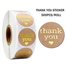 500pcs with love thank you stickers labels kraft paper stickers stationery stickers packaging seal stickers scrapbook sticker