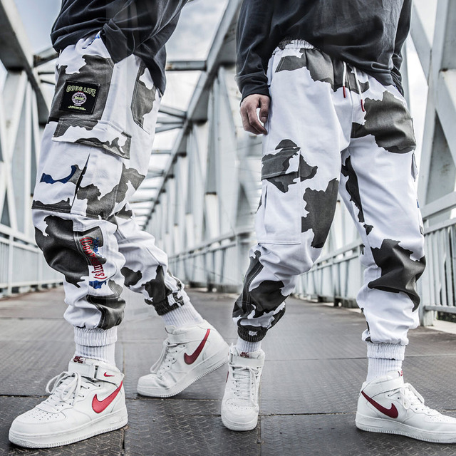 Cool Man Jogger Camouflage Side Pockets Loose Style Men's Sweatpants Fashion 2020 High Street Casual Pants Mens Streetwear Pants