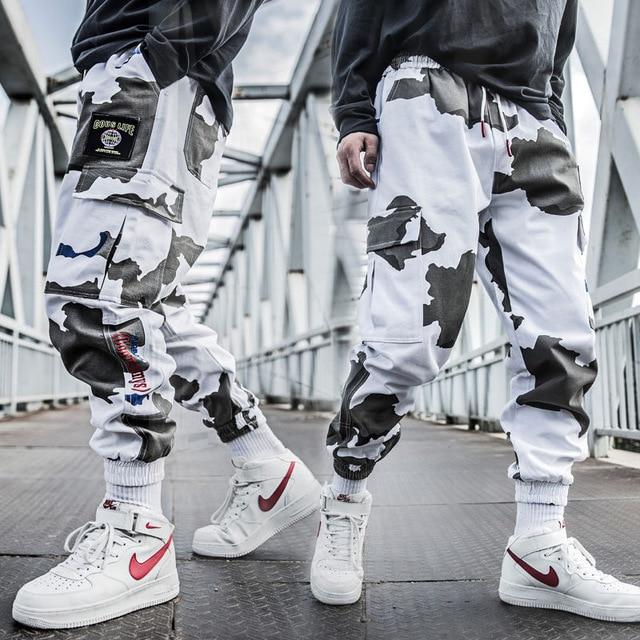 Cool Man Jogger Camouflage Side Pockets Loose Style Men's Sweatpants Fashion 2020 High Street Casual Pants Mens Streetwear Pants
