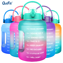 QuiFit 2,5л 3,78л с широким горлышком, Мобильный держатель, бутылки для воды в галлонах, шлепанцы без бисфенола А, спорт, фитнес, туризм, тренажерны...